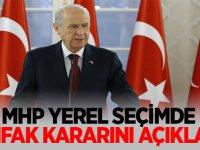 Sondakika: MHP yerel seçimde ittifak kararını açıkladı