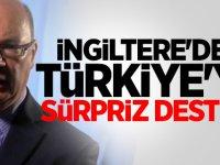 İngiltere'den Türkiye'ye sürpriz destek!