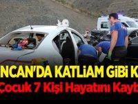 Erzincan'da Bayram Sonu Katliam Gibi Kaza