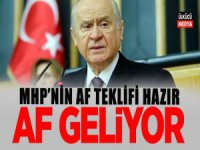 MHP'nin 8 Maddelik Af Teklifi Hazır