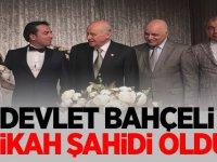 """MHP Lideri Devlet Bahçeli """"Nikâh şahidi"""" oldu"""