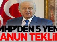 MHP'den 5 Yeni kanun teklifi