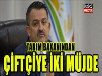 Tarım Bakanı Pakdemirli'den Çiftçiye İki Müjde