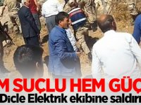 Dicle Elektrik ekibine saldırı: 3 yaralı