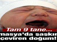 Amasya'da şaşkına çeviren doğum! Tam 9 tane...