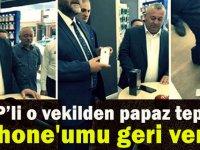 MHP'Lİ ENGİNYURT'TAN PAPAZ TEPKİSİ: İPHONE'UMU GERİ VERİN