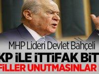 MHP Lideri Devlet Bahçeli'den çok sert tepki: gafiller unutmasınlar ki...
