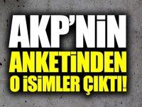 AKP'nin anketinden o isimler çıktı!