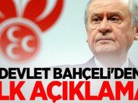 Devlet Bahçeli'den Erdoğan görüşmesi öncesi ilk açıklama