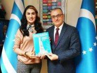 Ülkücü Medya yazarı Gamze Boynueğri,  Kerkük'e hizmet için kolları sıvadı…