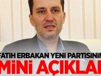 Fatih Erbakan yeni partisinin ismini açıkladı!