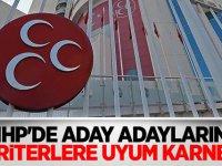 MHP'de aday adaylarına 'kriterlere uyum karnesi'