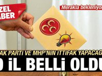 İşte AK Parti ve MHP'nin ittifak yapacağı iller
