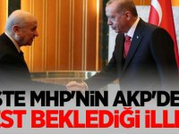 İŞTE MHP'NİN AKP'DEN JEST BEKLEDİĞİ İLLER