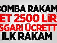 Bomba Rakam Asgari ücret net 2500 liranın üstünde..