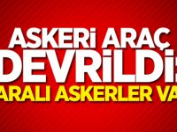 Askeri araç devrildi: Yaralı askerler var