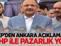 AKP'den Ankara Açıklaması: MHP ile pazarlık yok