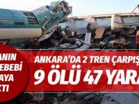 Ankara'da Hızlı Tren ile banliyö treni çarpıştı! Bakan korkunç bilançoyu açıkladı