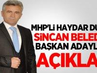Haydar Duran Belediye Başkan Aday Adaylığını Açıkladı