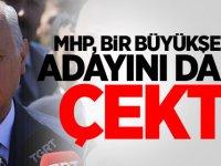 MHP, bir Büyükşehir adayını daha çekti