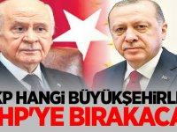 AKP hangi büyükşehirleri MHP'ye bırakacak?