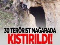 PKK'lı 30 Terörist Bir Mağarada Kıstırıldı!