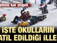 7 İlde Eğitime Kar ve Buzlanma Engeli