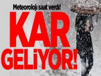 Meteoroloji Saat Verdi! Kar ve Don Uyarısı
