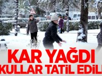Kar fena bastırdı okullar yarın tatil edildi