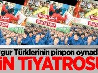Uygur Türklerinin pinpon oynadığı 'Çin tiyatrosu'