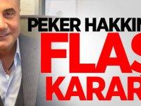 Sedat Peker Hakkında Flaş karar