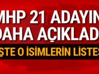 MHP 21 belediye başkan adayını daha açıkladı