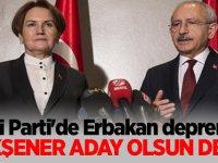 """İYİ Parti'de Erbakan depremi: Akşener """"aday olsun"""" dedi"""
