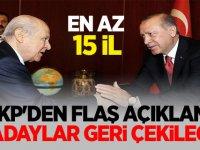 AK Parti'den  flaş açıklama: O adaylar geri çekilecek