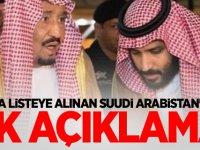 Kara listeye alınan Suudi Arabistan'dan ilk açıklama!