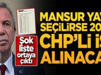 Şok liste ortaya çıktı! Mansur Yavaş seçilirse 20 bin CHP'li işe alınacak