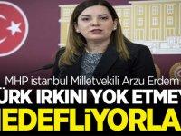 MHP'li Arzu Erdem: Türk Irkını Yok Etmeyi Hedefliyorlar'