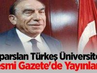 Alparslan Türkeş Üniversitesi Resmi Gazete'de yayınlandı...