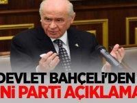 Devlet Bahçeli'den 'yeni parti' açıklaması!
