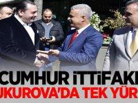 CUMHUR İTTİFAKI ÇUKUROVA'DA TEK YÜREK
