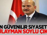 Anketlerde En güvenilir siyasetçi Süleyman Soylu çıktı!