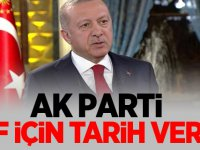 AK Parti AF İçin tarih verdi
