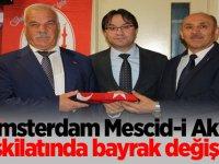 Amsterdam Mescid-i Aksa Teşkilatında bayrak değişimi