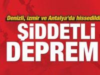 Son Dakika! Denizli'de şiddetli deprem! İzmir ve Antalya'da...