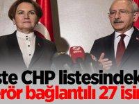 İşte CHP listesindeki terör bağlantılı 27 isim!