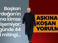 Cumhurbaşkanı Erdoğan 41 Günde 44 İlde Miting Yaptı