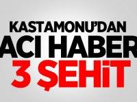 Kastamonu'dan acı haber: 3 şehit