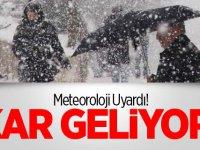 Dikkat! Meteoroloji uyardı! Kar geliyor