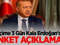 Seçime 3 Gün Kala Erdoğan'dan Anket Açıklaması