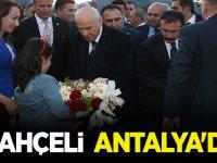 MHP Lideri Devlet Bahçeli Antalya'da
